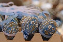 ο ζωηρόχρωμος παγετός πάγου λουλουδιών iceblue eastereggs η τέχνη εποχής εορτασμού διακοσμήσεων διακοσμήσεων διακοπών Στοκ εικόνες με δικαίωμα ελεύθερης χρήσης