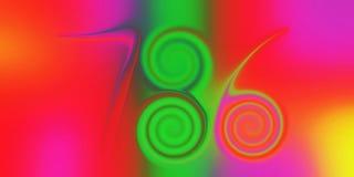 Ο ζωηρόχρωμος τυχερός αριθμός 786, glittery, σκίασε και άναψε με την τρισδιάστατα εικόνα και wallapaper το σχέδιο υποβάθρου επίδρ διανυσματική απεικόνιση