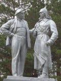 Ο ηγέτης της επανάστασης, Λένιν και η κόκκινη φρουρά Στοκ φωτογραφίες με δικαίωμα ελεύθερης χρήσης