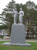 Ο ηγέτης της επανάστασης, Λένιν και η κόκκινη φρουρά Στοκ φωτογραφία με δικαίωμα ελεύθερης χρήσης