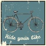 Οδηγήστε την εικόνα ποδηλάτων σας Στοκ Φωτογραφία