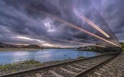 Οδηγήστε το τραίνο Στοκ εικόνες με δικαίωμα ελεύθερης χρήσης