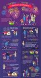 Οδηγία πώς να επιδείξει το πυροτέχνημα Κανόνες ασφάλειας απεικόνιση αποθεμάτων