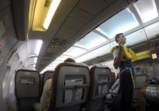 Οδηγίες ασφάλειας για τα αεροσκάφη Στοκ Εικόνες