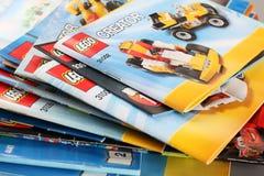 Οδηγίες οικοδόμησης LEGO Στοκ εικόνα με δικαίωμα ελεύθερης χρήσης