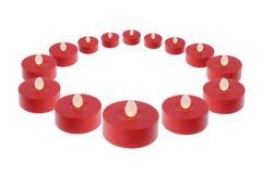 Οδηγημένα κεριά με το άσπρο υπόβαθρο στοκ εικόνες με δικαίωμα ελεύθερης χρήσης