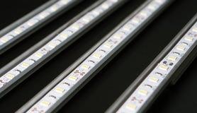 Οδηγημένα λωρίδες στο μαύρο υπόβαθρο Στοκ φωτογραφία με δικαίωμα ελεύθερης χρήσης