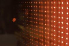 Οδηγημένος κόκκινος κύβος Στοκ Φωτογραφία