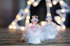 Οδηγημένο snowflake για τη διακόσμηση Χριστουγέννων στοκ φωτογραφία