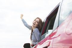 Οδηγός γυναικών έξω Στοκ Εικόνες