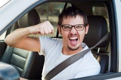 Οδηγός με την πυγμή Στοκ Εικόνες