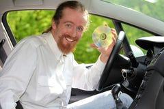 Οδηγός με το CD Στοκ εικόνες με δικαίωμα ελεύθερης χρήσης