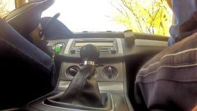 Οδηγός που μετατοπίζει τα εργαλεία απόθεμα βίντεο