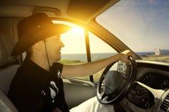 Οδηγός στο αυτοκίνητο Στοκ Εικόνα