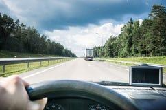 Οδηγός στο δρόμο Στοκ Φωτογραφία