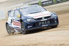 Οδηγός Anton Marklund Κόσμος Rallycross FIA της Βαρκελώνης Στοκ εικόνες με δικαίωμα ελεύθερης χρήσης