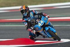 Οδηγός Aron Canet Estrella Γαλικία ΟΜΑΔΑ Moto3 Ενεργειακά Grand Prix τεράτων της Καταλωνίας Στοκ εικόνες με δικαίωμα ελεύθερης χρήσης