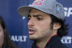 Οδηγός Carlos Saiz Ομάδα Toro Rosso Redbull Στοκ Εικόνες