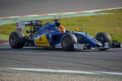Οδηγός Felipe Nasr Ομάδα Sauber F1 Στοκ Φωτογραφία