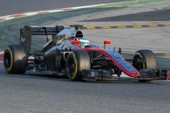 Οδηγός Fernando Alonso η ομάδα Στοκ φωτογραφία με δικαίωμα ελεύθερης χρήσης