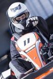 Οδηγός Karting έτοιμος για τη φυλή Στοκ φωτογραφίες με δικαίωμα ελεύθερης χρήσης