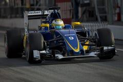Οδηγός Marcus Ericsson Ομάδα Sauber F1 Στοκ Φωτογραφία