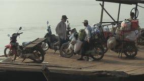 Οδηγός Moto, mekong, Καμπότζη, Νοτιοανατολική Ασία απόθεμα βίντεο
