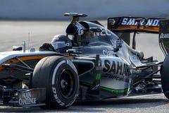 Οδηγός Sergio Perez Δύναμη Ινδία Σαχάρας ομάδας Στοκ Εικόνα