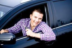 Οδηγώντας άτομο Στοκ Εικόνες