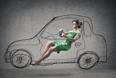 οδηγώντας γυναίκα Στοκ εικόνα με δικαίωμα ελεύθερης χρήσης