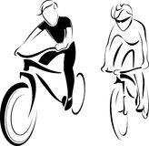 Οδηγώντας ποδήλατο ατόμων Στοκ Εικόνα