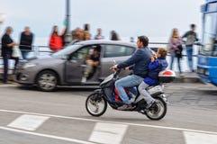 Οδηγώντας σπίτι - Αμάλφη Στοκ εικόνες με δικαίωμα ελεύθερης χρήσης