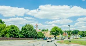 Οδηγώντας στις οδούς σε Maryville, Τένεσι Στοκ Φωτογραφίες