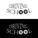 Οδηγώντας σχολείο λογότυπων Στοκ Εικόνες