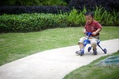 Οδηγώντας τρίκυκλο μωρών Στοκ φωτογραφίες με δικαίωμα ελεύθερης χρήσης