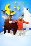 οδηγώντας χειμώνας ελκήθρων διασκέδασης Στοκ Φωτογραφίες