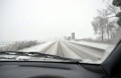 οδηγώντας χειμώνας Στοκ Εικόνα
