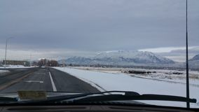 οδηγώντας χιόνι Στοκ Εικόνες
