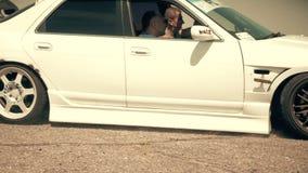 Οδησσός, Ουκρανία - 15 Ιουλίου: Αυτοκίνητο που παρασύρει στον ανταγωνισμό θερινής κλίσης απόθεμα βίντεο