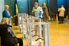 Οδησσός, Ουκρανία - 25 Οκτωβρίου 2015: θέση για τους ανθρώπους της ψηφοφορίας vo Στοκ Εικόνες