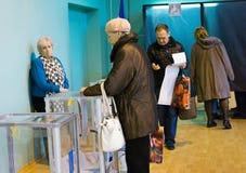 Οδησσός, Ουκρανία - 25 Οκτωβρίου 2015: θέση για τους ανθρώπους της ψηφοφορίας vo Στοκ Εικόνα