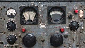 Ο θαλάσσιος πίνακας ελέγχου λειτουργεί κουμπιά στοκ εικόνες