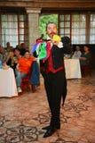 Ο θαυματοποιός μάγων Maestro παρουσιάζει στην εσωτερική σκηνή σχεδίου Στοκ εικόνες με δικαίωμα ελεύθερης χρήσης