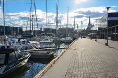 Ο θαλάσσιος λιμένας του Ταλίν Στοκ φωτογραφία με δικαίωμα ελεύθερης χρήσης