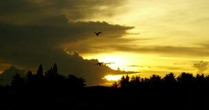 Ο θερινός ουρανός της νότιας Ταϊλάνδης μια πολύ καυτή ημέρα Στοκ εικόνες με δικαίωμα ελεύθερης χρήσης