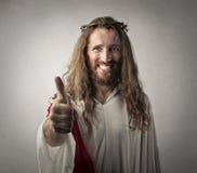 Ο θετικός Ιησούς Στοκ Εικόνες