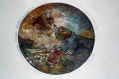 Ο Θεός δίνει στο Μωυσή τις δέκα εντολές Στοκ εικόνα με δικαίωμα ελεύθερης χρήσης