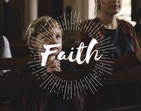 Ο Θεός λατρείας θεωρεί την πίστη Word θρησκείας στοκ εικόνες