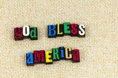 Ο Θεός πατριωτισμού ευλογεί την Αμερική Αμερικανός Στοκ φωτογραφία με δικαίωμα ελεύθερης χρήσης