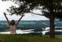 Ο θηλυκός αριθμός για το υπόβαθρο του ποτάμι Μισισιπή Στοκ εικόνες με δικαίωμα ελεύθερης χρήσης